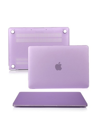 """Mcstorey MacBook Pro A1286 15.4"""" Kılıf Kapak Koruyucu Ruberized Hard Incase Mat Lila"""
